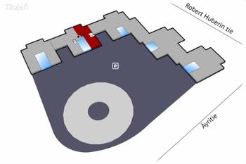 Äyritie 18 4krs 343m2 huoneisto 2 pohjakuva sijainti kiinteistössä