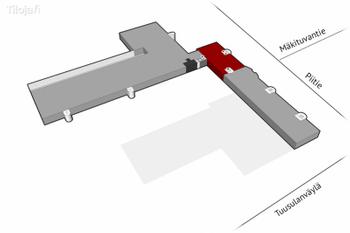 Mäkituvantie 3 2krs 569m2 pohjakuva sijainti kiinteistössä