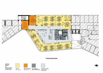Töölönlahdenkatu 3 B,Hki  545m2 tsto 5.krs