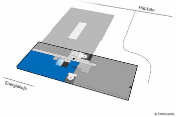 Hiilikatu 3 4krs 265m2 pohjakuva sijainti kiinteistössä