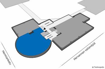 Hermiankatu 1 2krs 209m2 pohjakuva sijainti kiinteistösä