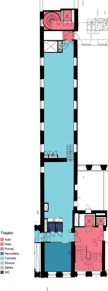 Aleksanterinkatu 17 4krs b-porras 186-5 m2 pohjakuva