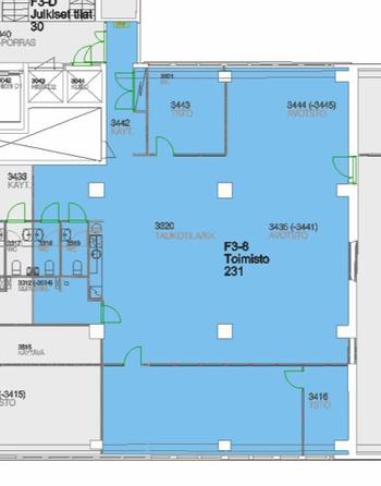 Teollisuusk.21, Hki F3-8 3.krs 231m2