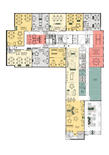 Klovinpellontie 1-3, Torni 1, 5. krs_100 ja 150 m2