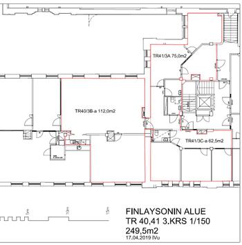 Finlaysoninkatu 2 Pakkavarasto 249,5 m2 pohja 3.krs
