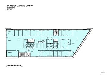 Tammiston Kauppatie 7 3.krs 900m2 pohjakuva