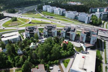 Lars Sonckin kaari 12-16 Stella business Park ilmakuva