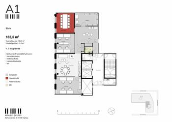 Karhumäentie 3, Vantaa Tilavisio 3. krs 165,5 m2